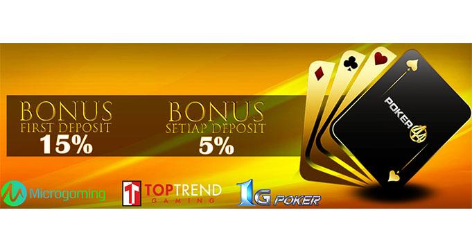 bonus judi poker online terbaru